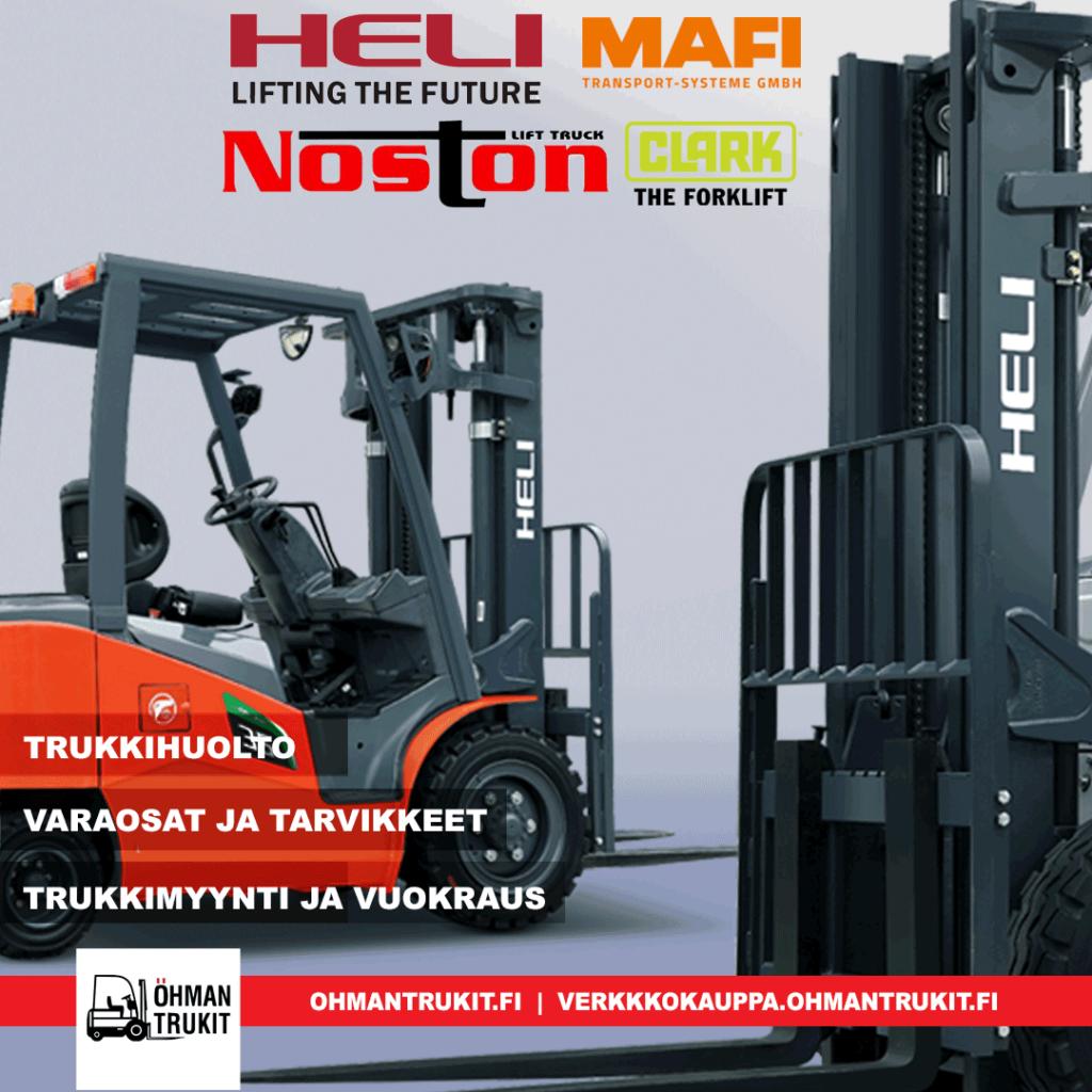 Öhman Trukit palvelee kaikissa trukkiasioissa, trukkivaraosat, trukkitarvikkeet, trukkivuokraus ja trukkileasing